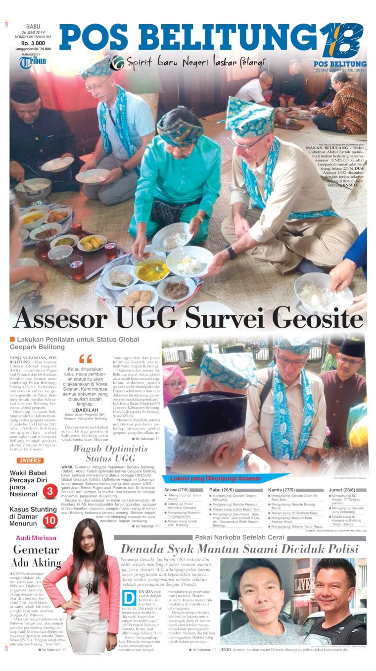 Pos Belitung Digital Newspaper 26 June 2019