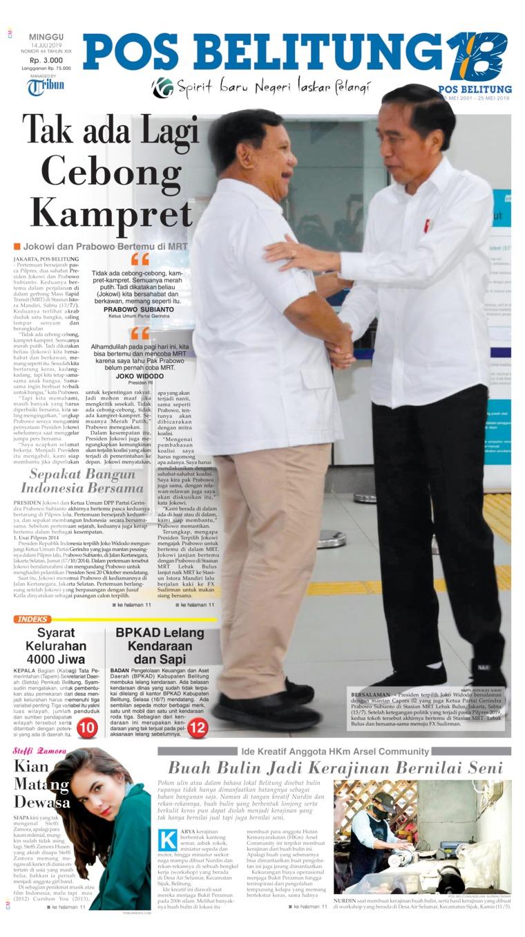 Koran Digital Pos Belitung 14 Juli 2019