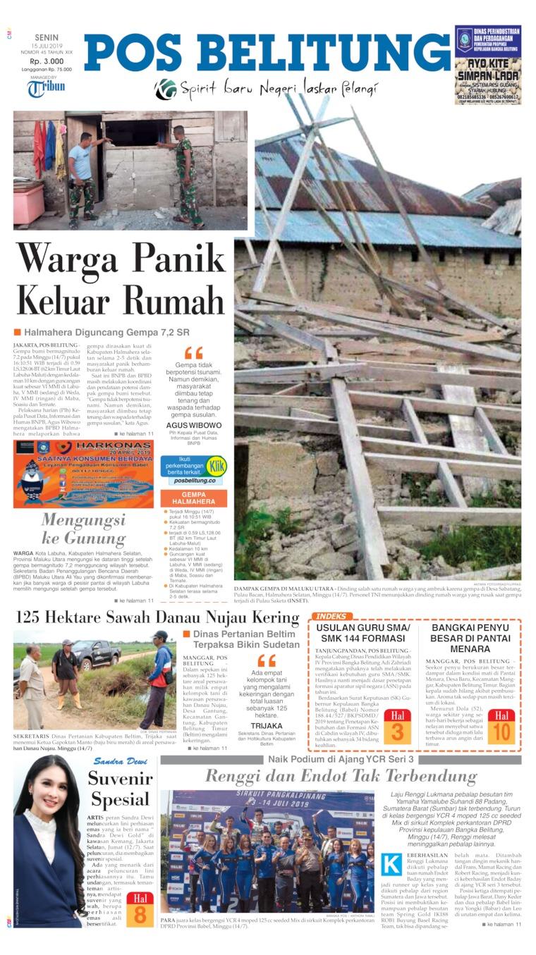 Koran Digital Pos Belitung 15 Juli 2019