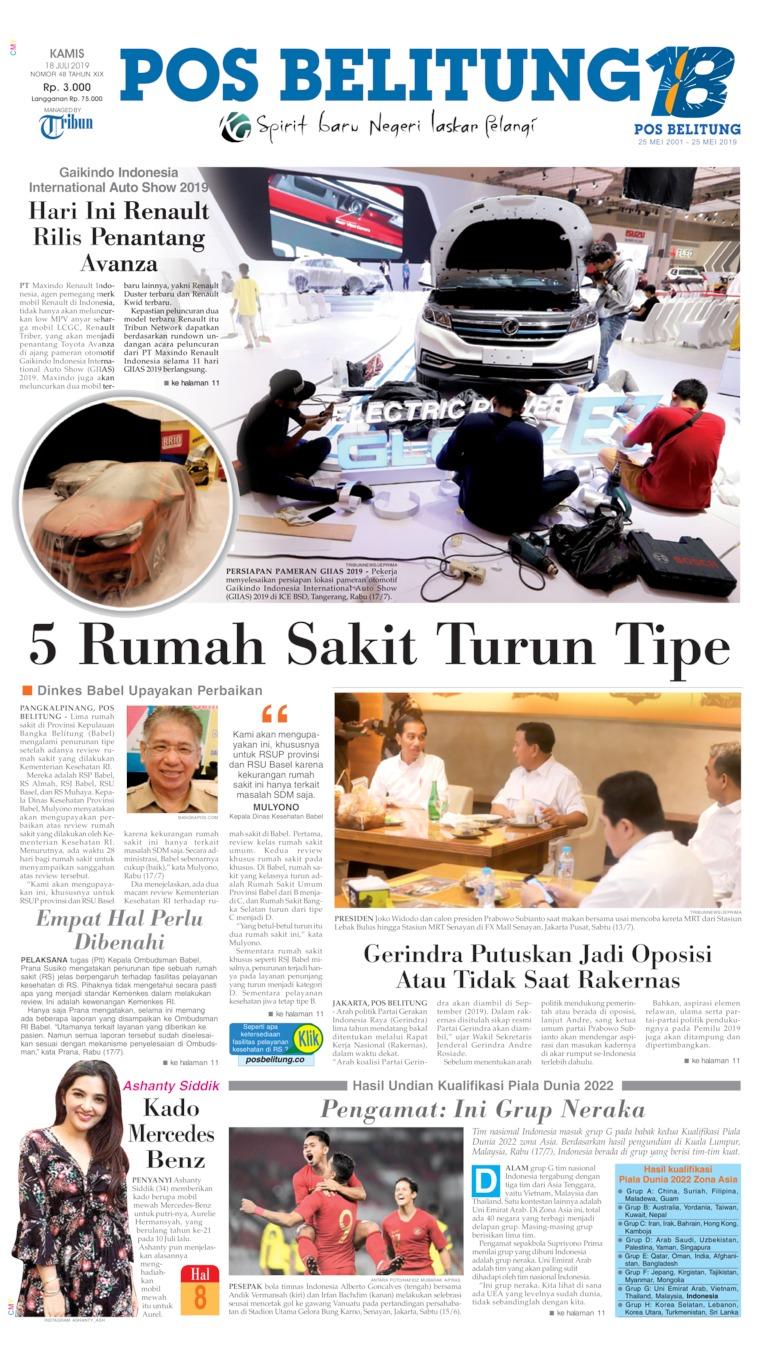 Koran Digital Pos Belitung 18 Juli 2019