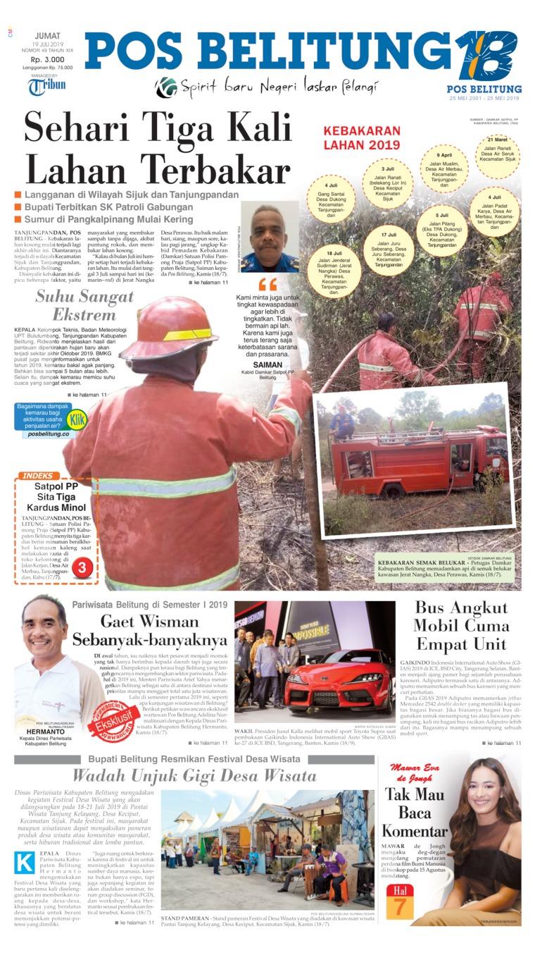 Koran Digital Pos Belitung 19 Juli 2019