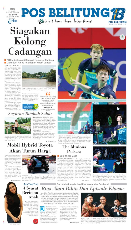 Koran Digital Pos Belitung 20 Juli 2019