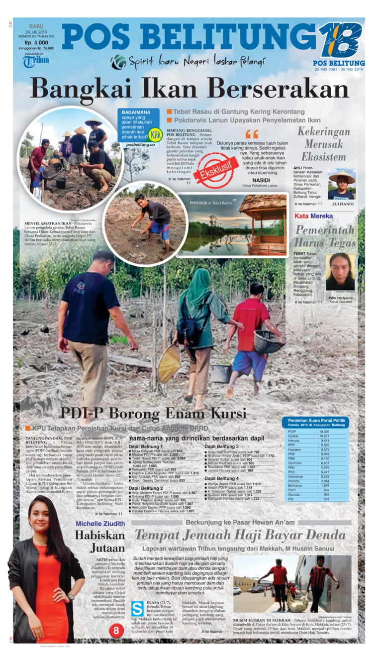 Pos Belitung Digital Newspaper 24 July 2019