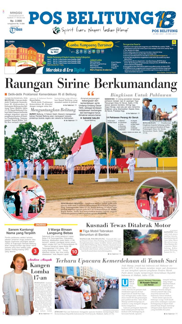 Pos Belitung Digital Newspaper 18 August 2019