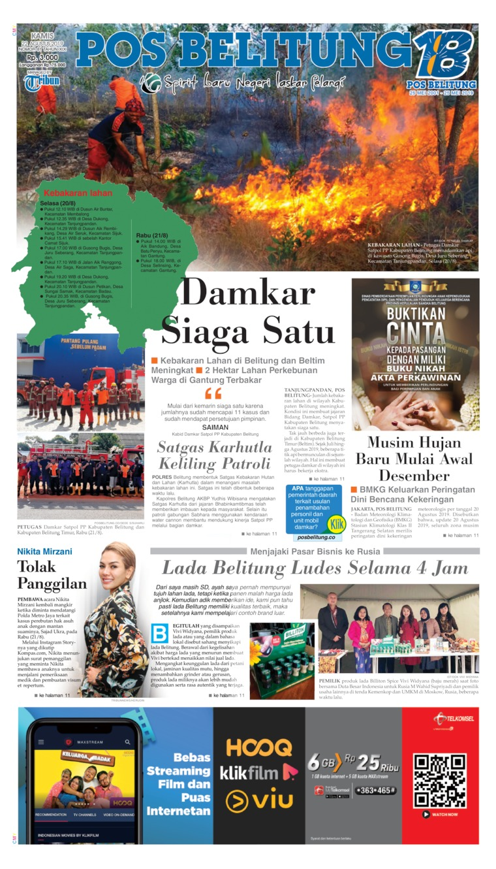 Pos Belitung Digital Newspaper 22 August 2019