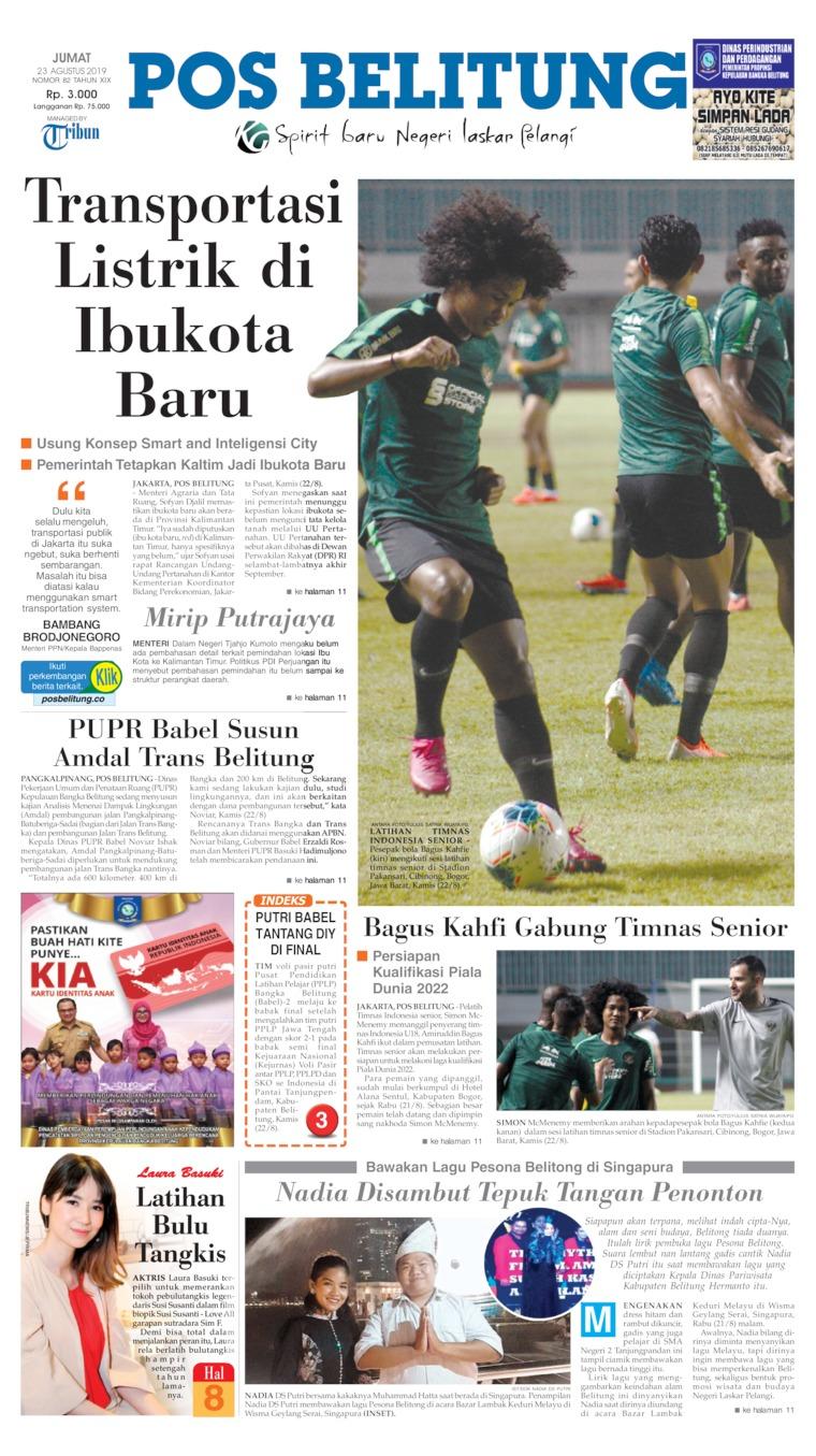 Pos Belitung Digital Newspaper 23 August 2019
