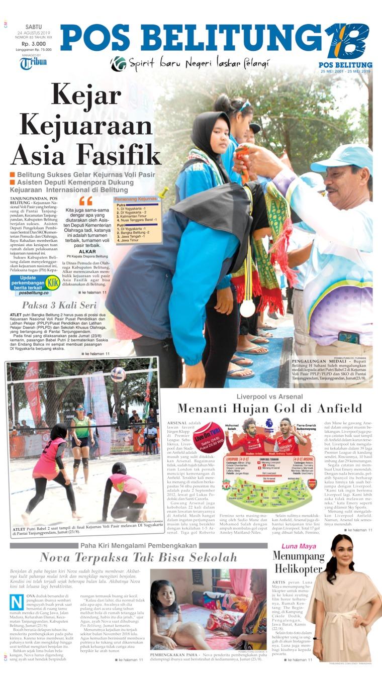 Pos Belitung Digital Newspaper 24 August 2019
