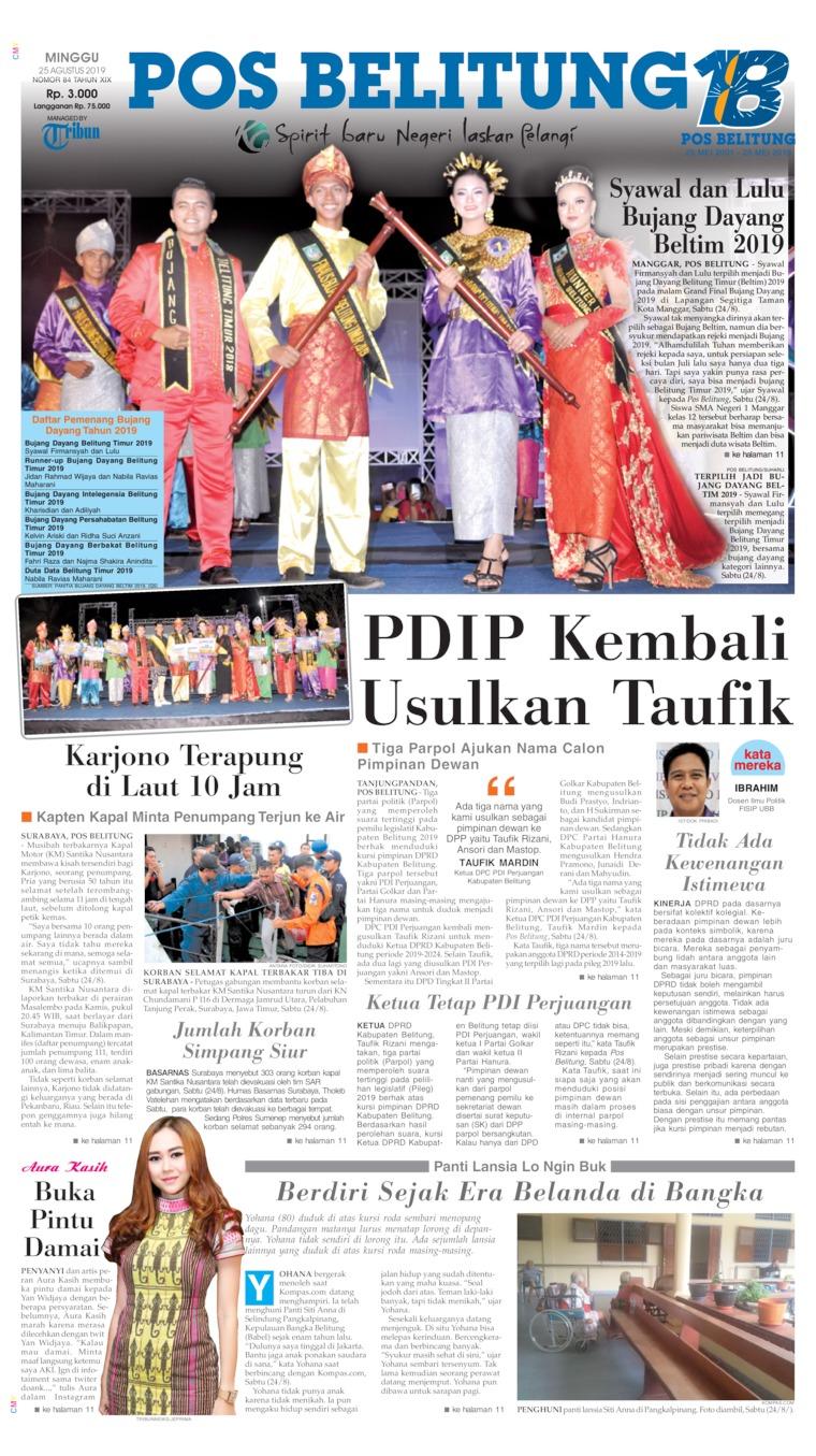 Koran Digital Pos Belitung 25 Agustus 2019