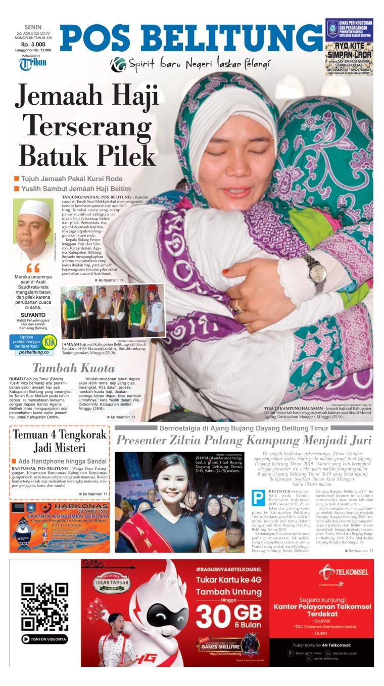 Koran Digital Pos Belitung 26 Agustus 2019