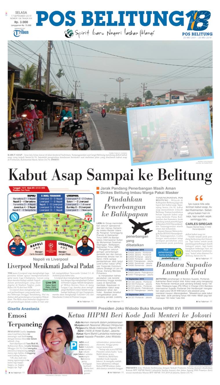 Koran Digital Pos Belitung 17 September 2019