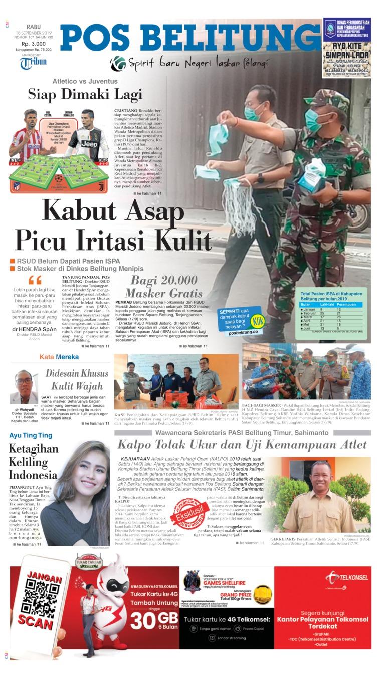 Pos Belitung Digital Newspaper 18 September 2019