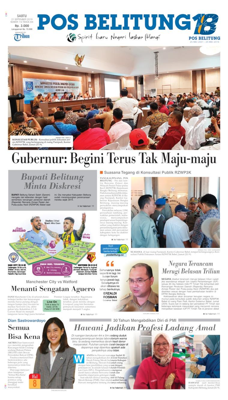 Koran Digital Pos Belitung 21 September 2019
