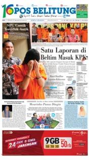 Cover Pos Belitung 21 Februari 2018