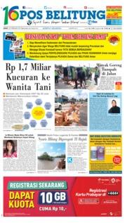Cover Pos Belitung 23 Februari 2018
