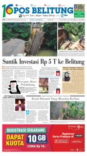Cover Pos Belitung 26 Februari 2018