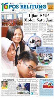 Cover Pos Belitung 24 April 2018