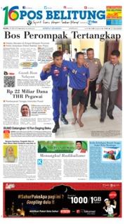 Cover Pos Belitung 22 Mei 2018