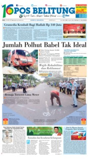 Cover Pos Belitung 23 Mei 2018
