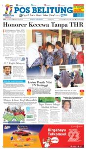 Cover Pos Belitung 26 Mei 2018