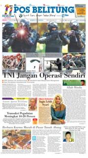 Cover Pos Belitung 27 Mei 2018