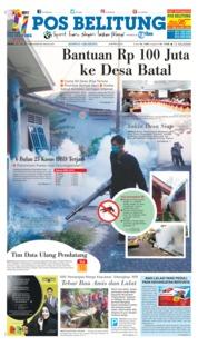 Cover Pos Belitung 20 Juli 2018