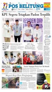 Cover Pos Belitung 11 Agustus 2018