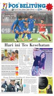 Cover Pos Belitung 12 Agustus 2018