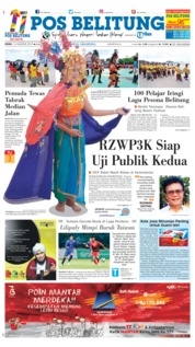 Cover Pos Belitung 13 Agustus 2018