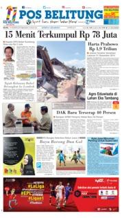 Cover Pos Belitung 14 Agustus 2018