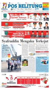 Cover Pos Belitung 16 Agustus 2018