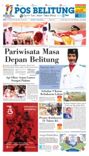 Cover Pos Belitung 18 Agustus 2018