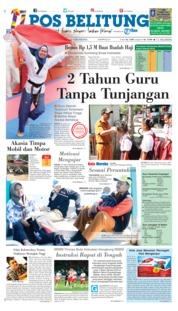 Cover Pos Belitung 20 Agustus 2018