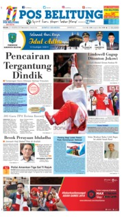 Cover Pos Belitung 21 Agustus 2018