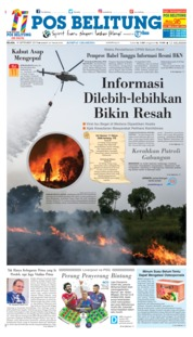 Cover Pos Belitung 18 September 2018
