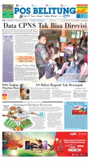 Cover Pos Belitung 19 September 2018