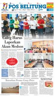 Cover Pos Belitung 21 September 2018