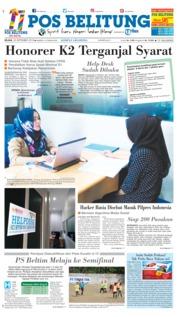 Cover Pos Belitung 25 September 2018