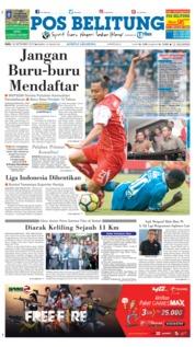 Cover Pos Belitung 26 September 2018