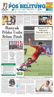 Cover Pos Belitung 19 Oktober 2018
