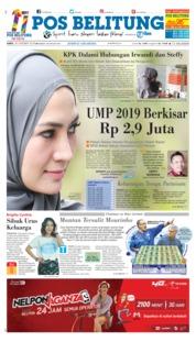 Cover Pos Belitung 20 Oktober 2018
