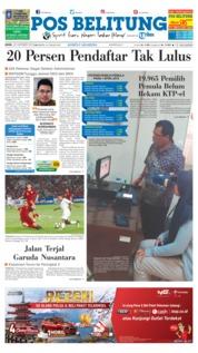 Cover Pos Belitung 22 Oktober 2018