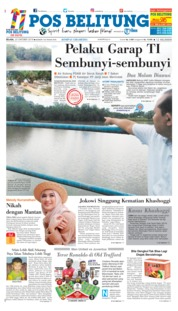 Cover Pos Belitung 23 Oktober 2018