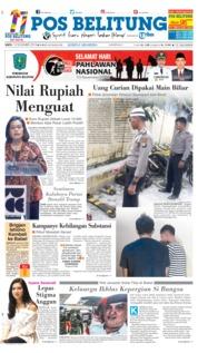 Cover Pos Belitung 10 November 2018