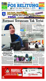 Cover Pos Belitung 12 November 2018