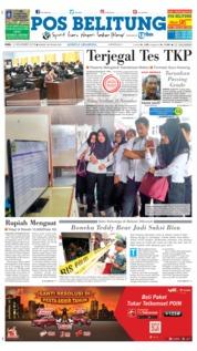 Cover Pos Belitung 14 November 2018