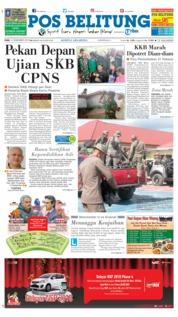 Cover Pos Belitung 05 Desember 2018