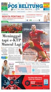 Cover Pos Belitung 10 Desember 2018