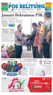 Cover Pos Belitung 19 Desember 2018