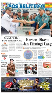 Cover Pos Belitung 15 Januari 2019