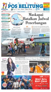 Cover Pos Belitung 17 Januari 2019